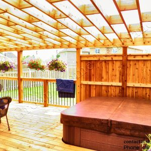 Cedar Deck and Pergola -Keswick ON