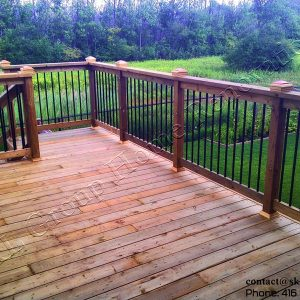 Deck railing in Ajax Ontario built by SKL Group in 2011