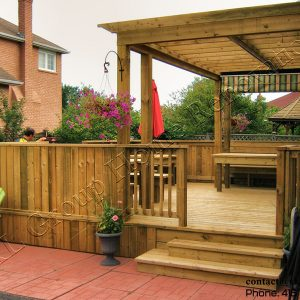 Free floating Deck and Pergola in Pickering