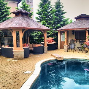 Gazebo and cabana in Vaughan Ontario, Designed and Built by SKL Group in 2012