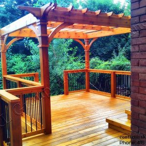 Metal Railing Deck and Pergola-Toronto 2011