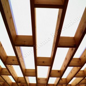 Cedar Deck and Pergola Roof