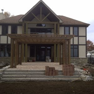 Pergola over Patio at Lake Simco Ontario Built by SKL Group