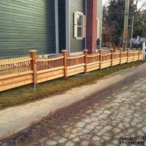 Cedar Picket Fence - Richmond Hill Ontario 2012