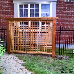 Cedar Screen Fence-Mississauga, Ontario