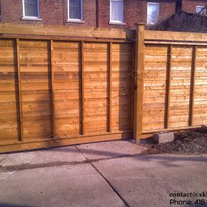 Fence and Sliding Gate - Toronto Ontario built by SKL Group in 2009