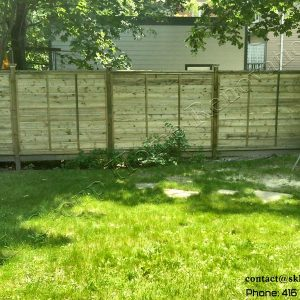 Privacy fence in Toronto Ontario built by SKL Group in 2010