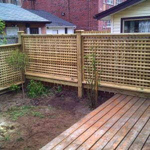 Screen fence in Toronto Ontario built by SKL Group in 2011