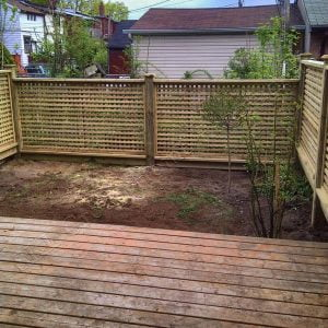 Screen fence in Toronto built by SKL Group in 2011