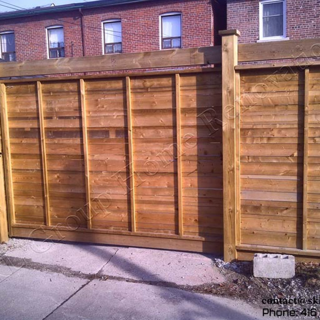 Sliding Gate And Fence In Toronto Ontario Built By SKL Group In 2009
