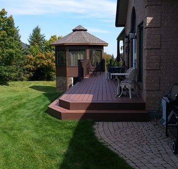 Gazebo And Deck Built By SKL Group In Port Perry ONTARIO